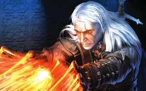 Picture fire, magic, The Witcher, RPG
