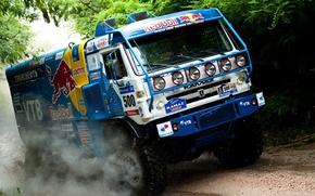 Picture dirt, cars, rally, trucks, deset, dacar, storn