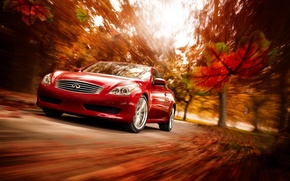 Wallpaper Infiniti, Red, Autumn