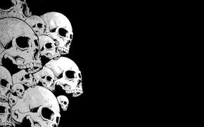 Picture black, Skull, skull