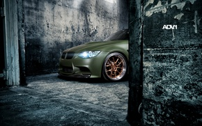 Picture wall, lights, tuning, BMW, BMW, green, tuning, the front, adv.1