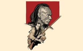 Picture art, classic, The last of the Mohicans, Hawkeye, The Last of the Mohicans, Wes Studi, …