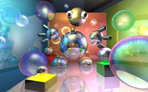 Picture rendering, bubble, unity, vsugrobDeviantart, raytrace, vsugrob