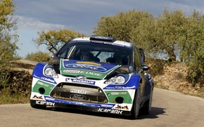 Picture Ford, Sport, Race, Lights, WRC, Rally, Fiesta, The front