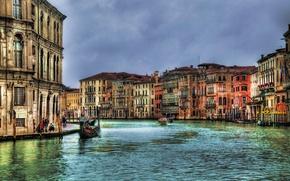 Picture building, home, Italy, Venice, channel, Italy, gondola, Venice, Italia, Grand canal