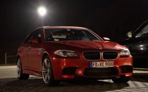 Picture the evening, BMW, lantern, car, BMW m5