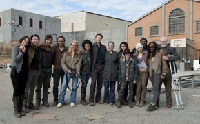Picture team, the series, actors, The Walking Dead, The walking dead