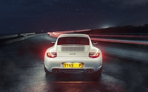 Picture 911, Porsche, Car, Sports, GTS, Rear, Ligth, Nigth