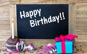 Picture gift, Board, Happy Birthday, Birthday
