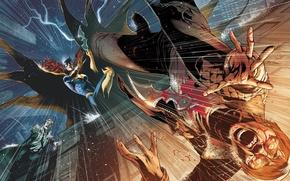Picture batman, DC Comics, James Gordon, batgirl, Barbara Gordon