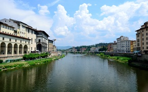 Picture Sky, Italy, Florence, River, Old Bridge, Firenze, Old Bridge
