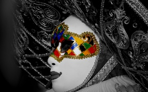 Picture face, style, France, mask, carnival, Resim