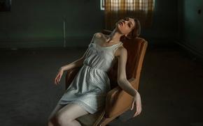 Picture girl, chair, George Chernyadev, Ola Pushkina, The strange Olya