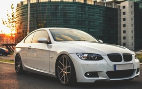 Picture BMW, White, BMW, Drives, White, E92, Tuning