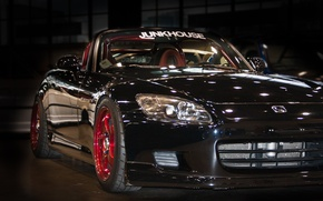 Picture machine, auto, Honda, black car