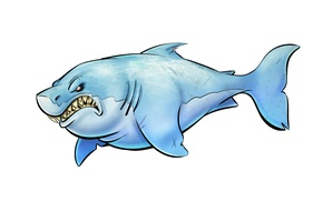 Wallpaper fish, shark, light background, shark, toothy