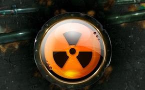 Picture danger, sign, radiation
