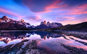 Picture the sky, clouds, mountains, Chile, Patagonia