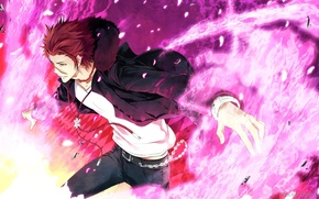 Picture Anime, Suoh Mikoto, Project key, red., Key project, Suoh Mikoto