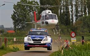 Picture Auto, Sport, Machine, Speed, Helicopter, WRC, Rally, Rally, Skoda, Fabia, Fabia, Skoda