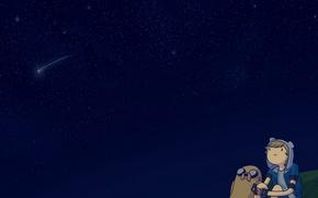Picture The sky, Stars, Sky, Space, Jake, Cartoon, Jake, Adventure Time, Fin, Adventure Time, Cartoon, Finn