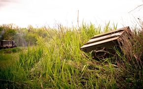 Picture Grass, Smoke, Gas, Made myself, Box, Shishiga