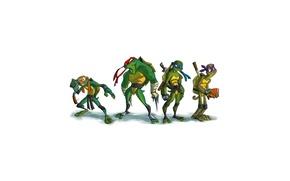 Wallpaper minimalism, Leonardo, Donatello, Teenage mutant ninja turtles, Raphael, Teenage Mutant Ninja Turtles, Michelangelo, mutant ninja ...