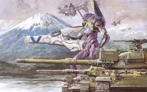 Picture tank, neon genesis evangelion, fur, eva-01, eva