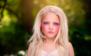 Picture girl, makeup, child photography, Porcelain Doll