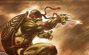 Picture turtle, rage, TMNT, Raphael