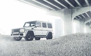 Picture Mercedes-Benz, Bridge, G55, White, Wheels, ADV.1, Storm Trooper