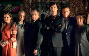 Picture Martin Freeman, Benedict Cumberbatch, Sherlock, Sherlock, John Watson, Sherlock Holmes, other, serial feature film, Louise …