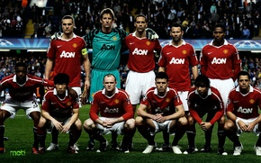 Wallpaper Champions League, Manchester United, Team, Old Trafford