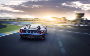 Picture car, auto, the sky, track, Ford, sky, track, exhausts, brake light