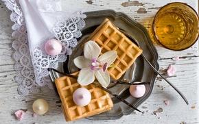 Picture Breakfast, waffles, marshmallows