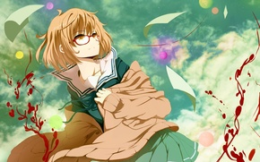Picture blood, Anime, the sky., Kyoukai no Kanata, Mirai Kuriyama