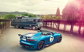Picture Concept, Jaguar, Project 7, some EvoBus, Jaguar D-Type 1954
