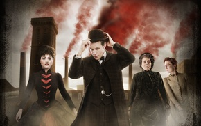 Picture look, girl, pipe, smoke, grandma, hat, dress, actress, costume, actor, male, Doctor Who, the old ...