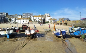 Picture Beach, England, Cornwall, St Ives, Fishing Harbour