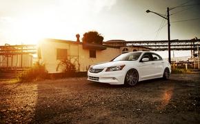 Picture white, honda, Honda, accord, Tuning, chord, Vossen