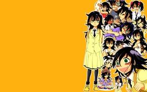 Picture girl, orange, Tomoko, Kuroki, They will meet the ga mote kris no of Spot Kangaete …