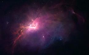 Picture space, light, nebula, stars, infinity