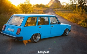 Picture nature, blue, blue, 2104, Soviet machine, bodybeat, the station wagon