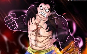 Picture fire, battlefield, flame, game, One Piece, pirate, anime, captain, manga, japanese, oriental, strong, muscular, spark, …