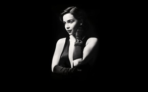 Picture chest, girl, face, actress, lips, twilight, beauty, Khaleesi, Emilia Clarke, Daenerys Targaryen, Emilia Clarke, Daenerys …