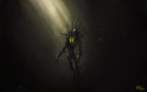 Picture energy, darkness, Warhammer 40k, Necrons, necrons