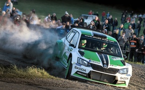 Picture Dust, WRC, Rally, The audience, Skoda, Fabia