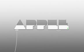 Picture metal, Apple, Logo