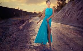 Picture road, dance, dress, Christina