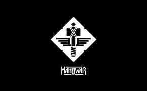 Picture logo, minimalism, heavy metal, hammer, manowar